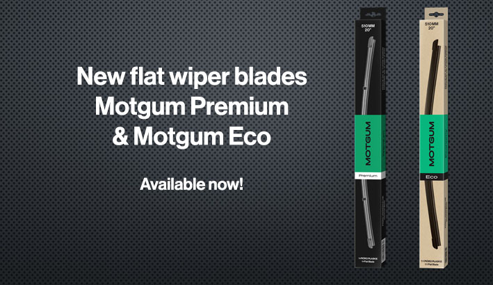 Flat wiper blades Motgum Premium and Eco