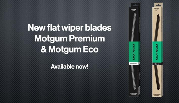 Flat wiper blades Motgum Premium and Eco